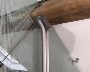 Steel Fabrication On Oak Beam