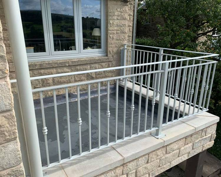 Steel Railings On A Balcony