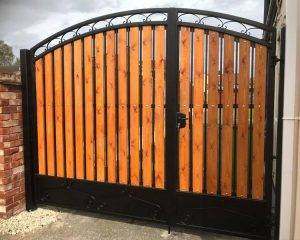 Timber And Steel Gate